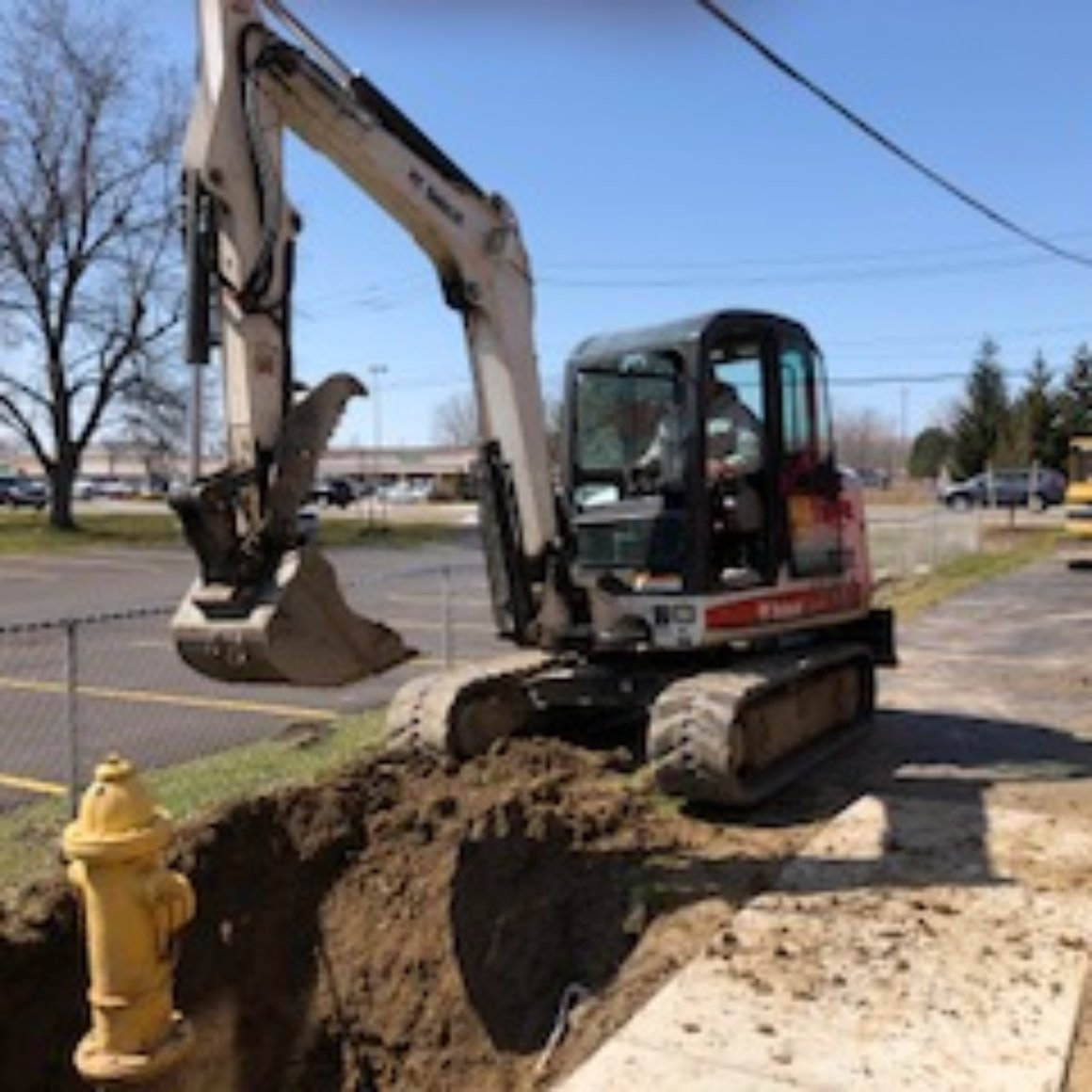 demolition removal of fire hydrant